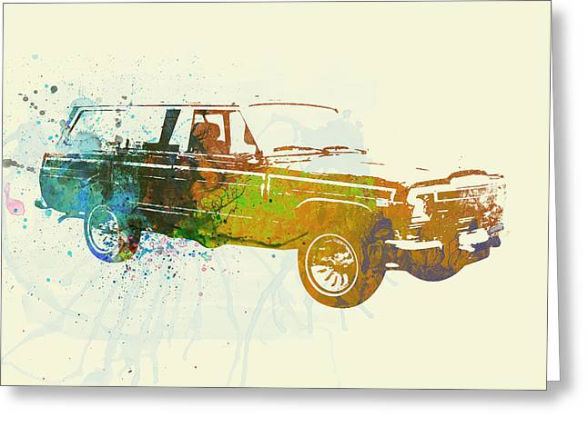 Woodies Greeting Cards - Jeep Wagoneer Greeting Card by Naxart Studio