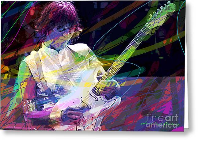 Beck Greeting Cards - Jeff Beck Bolero Greeting Card by David Lloyd Glover