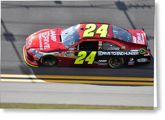 Jeff Gordon Greeting Cards - Jeff Gordon Greeting Card by Jason Loving