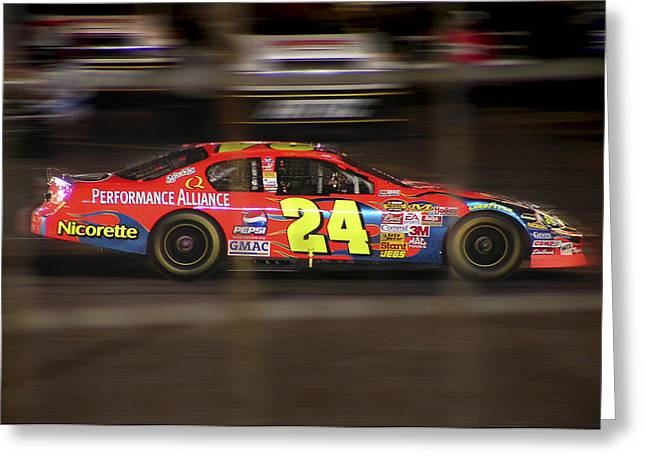 Jeff Gordons Cup Car  Greeting Card by Kenneth Krolikowski