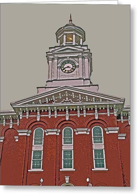 Recently Sold -  - Abstract Digital Greeting Cards - Jefferson County Courthouse Greeting Card by Jean Hall