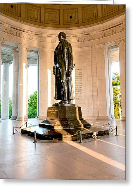Jefferson Memorial Greeting Card by Greg Fortier