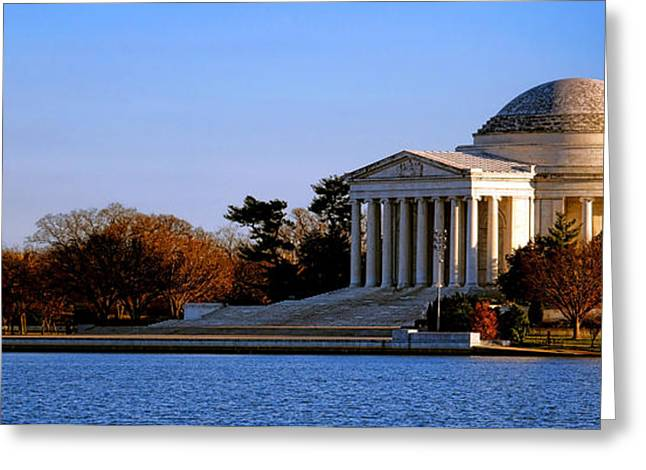 Jefferson Memorial Sunset Greeting Card by Olivier Le Queinec