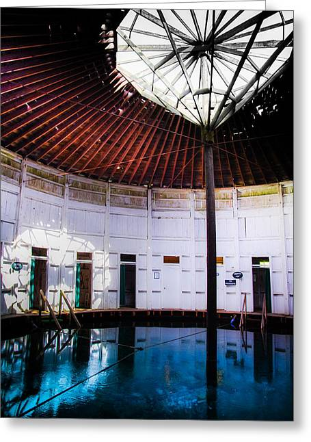 Octagon Greeting Cards - Jefferson Mineral Pools Greeting Card by Karen Wiles