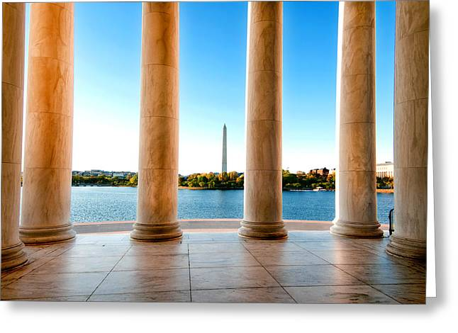 Declaration Of Independance Greeting Cards - Jefferson to Washington Greeting Card by Greg Fortier