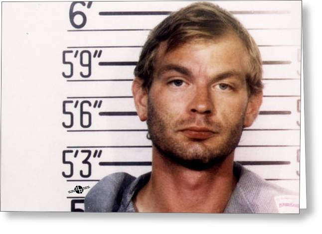 Jeffrey Dahmer Mug Shot 1991 Horizontal  Greeting Card by Tony Rubino