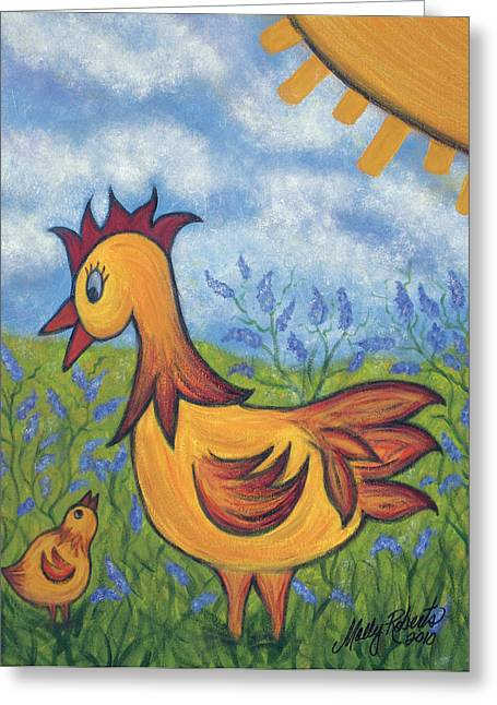Farm Animal Abstracts Greeting Cards - Jelly Bean Greeting Card by Molly Roberts