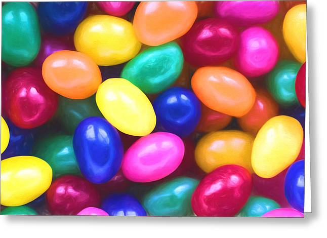 Jelly Beans Greeting Card by Terry DeLuco