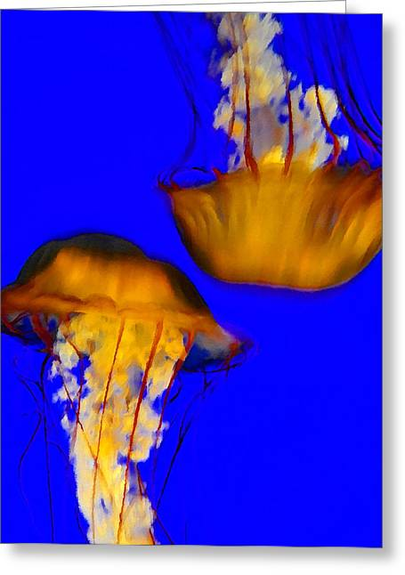 Jellyfish Art Greeting Cards - Jelly Love Greeting Card by David Lee Thompson