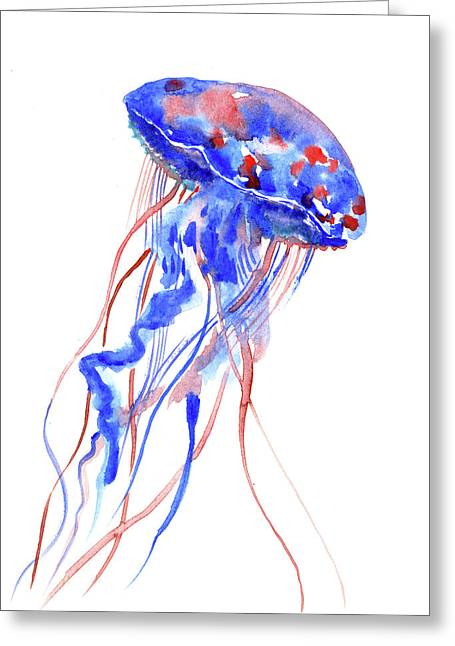 Jellyfish Greeting Card by Suren Nersisyan