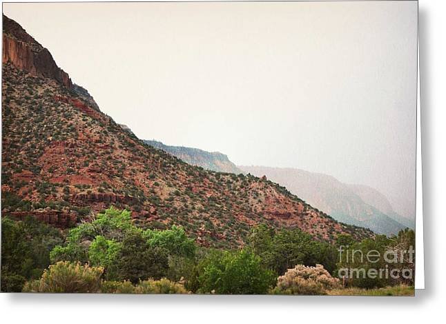 Jemez Mountains Greeting Cards - Jemez Valley Mountainside  Greeting Card by Andrea Hazel Ihlefeld