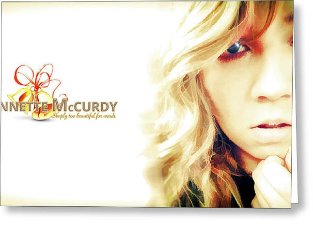 Jennette Mccurdy - Christmas Gem Greeting Card by Robert Radmore