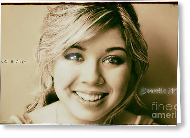 Jennette Mccurdy - Eternal Beauty Greeting Card by Robert Radmore