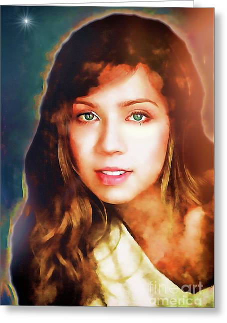 Jennette Mccurdy - Goddess Greeting Card by Robert Radmore
