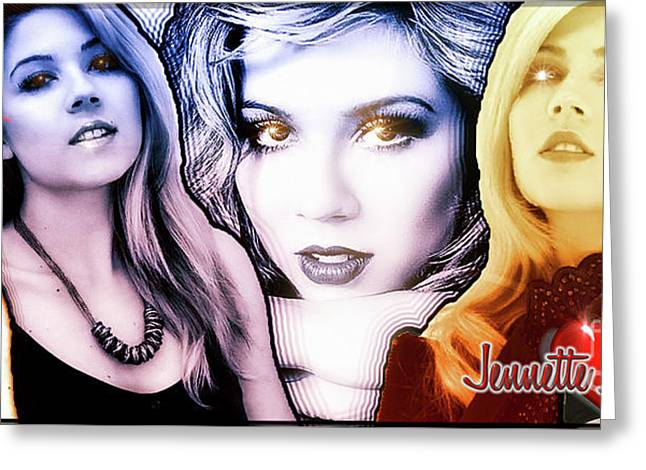 Jennette Mccurdy - Phases Greeting Card by Robert Radmore