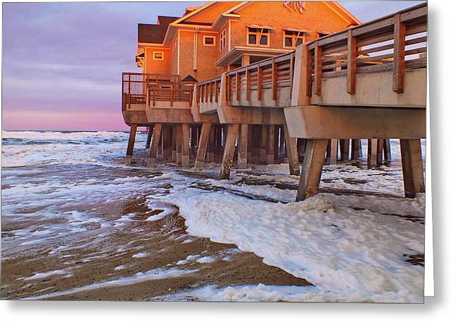 Sea Platform Greeting Cards - Jennettes Pier Greeting Card by Kristi Garthwaite
