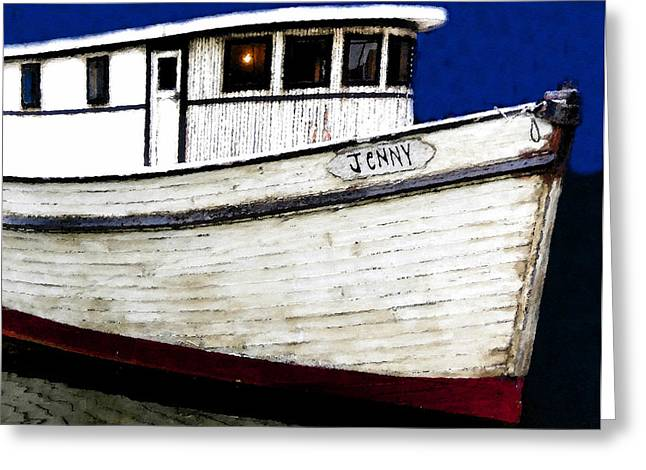 Shrimpers Greeting Cards - Jenny Greeting Card by David Lee Thompson