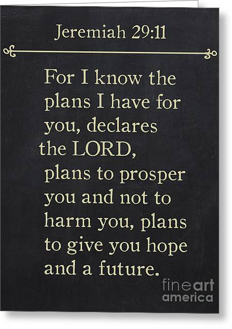 Wall Art For Your Home Or Office Greeting Cards - Jeremiah 29 11- Bible Verse Wall Art Collection Greeting Card by Mark Lawrence