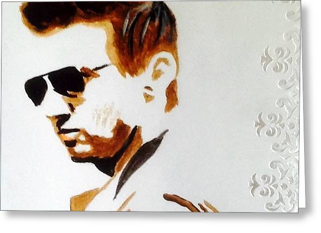Jeremy Greeting Cards - Jeremy Renner Greeting Card by Audrey Pollitt