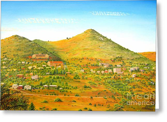 Jerome Stumphauzer Greeting Cards - Jerome Arizona Greeting Card by Jerome Stumphauzer