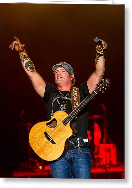 Live Music Greeting Cards - Jerrod Niemann 2 Greeting Card by Mike Burgquist