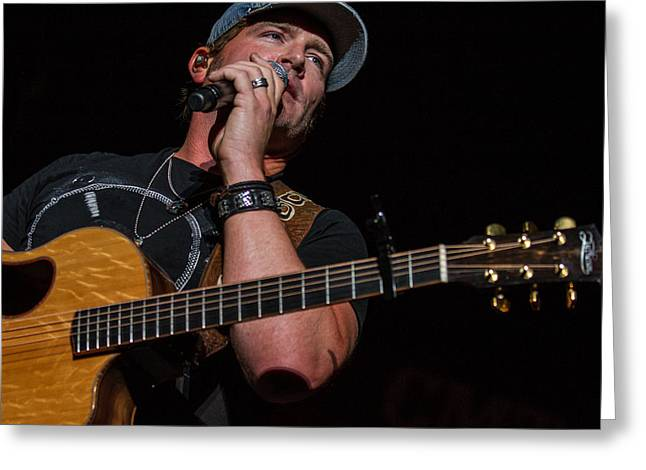 Live Music Greeting Cards - Jerrod Niemann 3 Greeting Card by Mike Burgquist