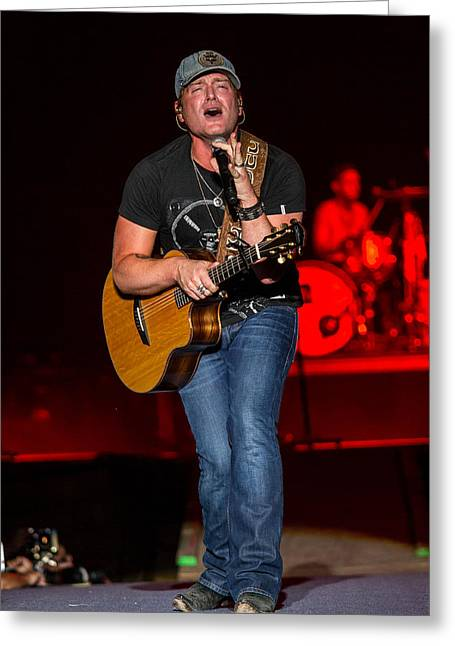 Live Music Greeting Cards - Jerrod Niemann Guitar 2 Greeting Card by Mike Burgquist