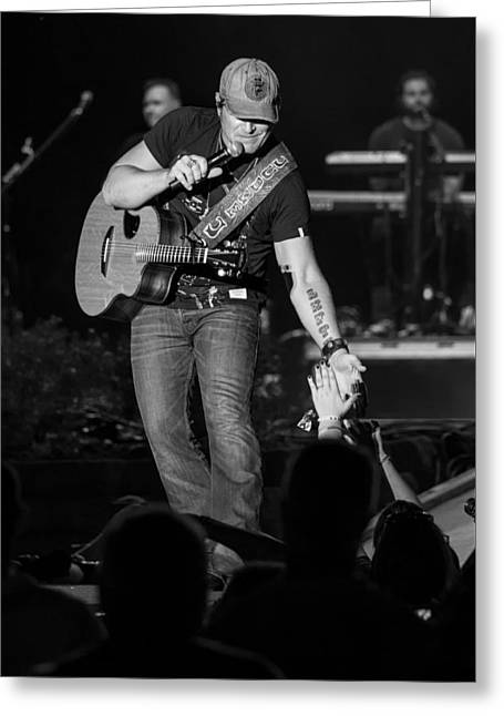 Live Music Greeting Cards - Jerrod Niemann Guitar Greeting Card by Mike Burgquist