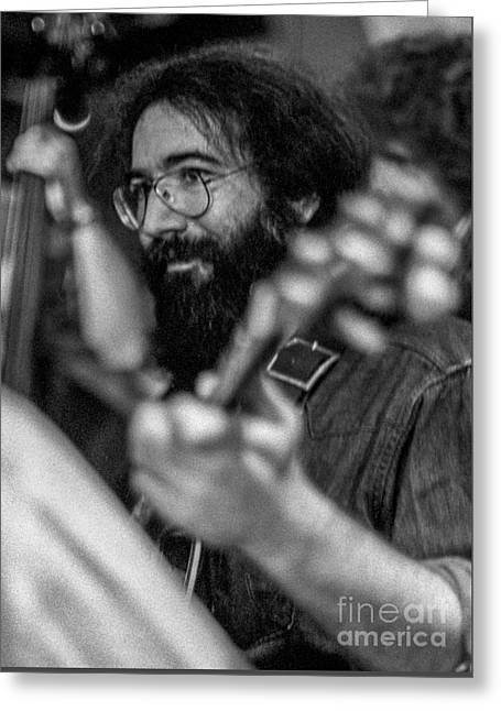 Jerry Garcia Circa 1974 Greeting Card by Frank DiMarco