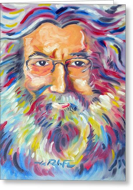 Joseph Palotas Greeting Cards - Jerry Garcia Greeting Card by Joseph Palotas