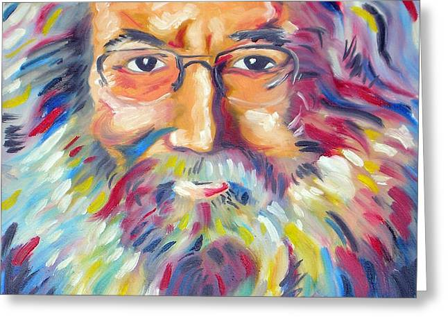 Jerry Garcia Greeting Card by Joseph Palotas