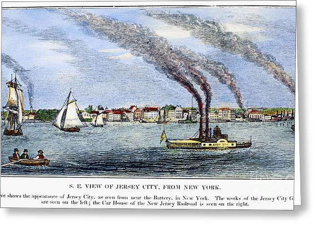 Steamboat Greeting Cards - Jersey City, 1844 Greeting Card by Granger