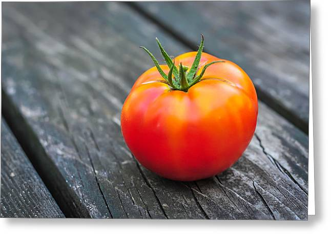 Menu Greeting Cards - Jersey Fresh Garden Tomato Greeting Card by Terry DeLuco