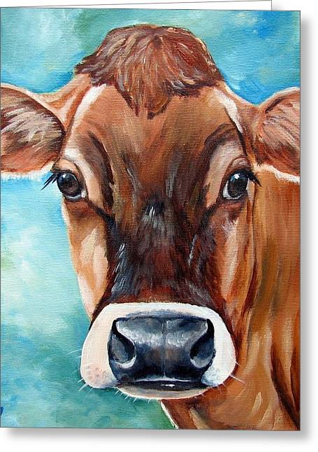 Swiss Greeting Cards - Jersey Girl Greeting Card by Laura Carey