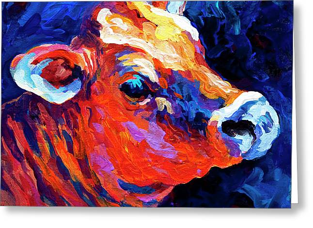 Cattle Greeting Cards - Jersey Girl Greeting Card by Marion Rose