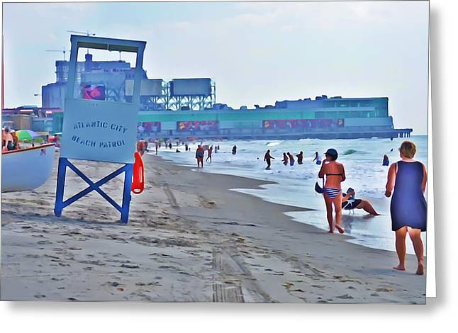 Steel Pier Greeting Cards - Jersey Shore - Atlantic City Greeting Card by Bill Cannon