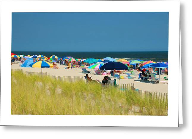 Beach Photography Greeting Cards - Jersey Shore 19 - Digital Painting Greeting Card by Allen Beatty