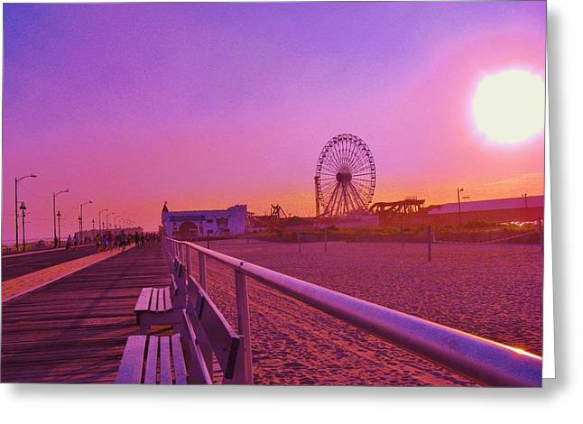 Amusements Greeting Cards - Jersey Shore Greeting Card by Marla McPherson