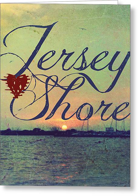 Jersey Shore Sunset V1 Greeting Card by Brandi Fitzgerald