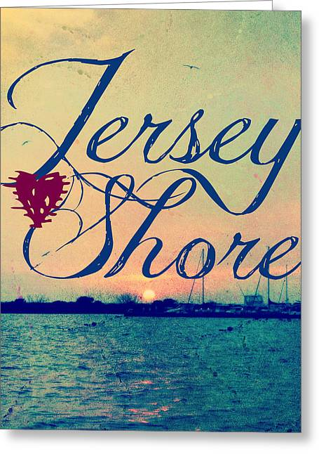 Jersey Shore Sunset V2 Greeting Card by Brandi Fitzgerald