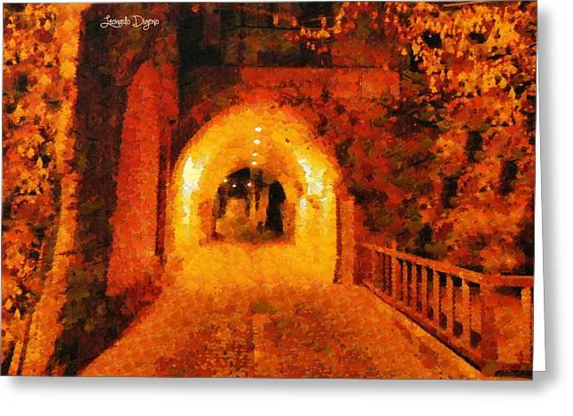 Jerusalem Gate - Da Greeting Card by Leonardo Digenio