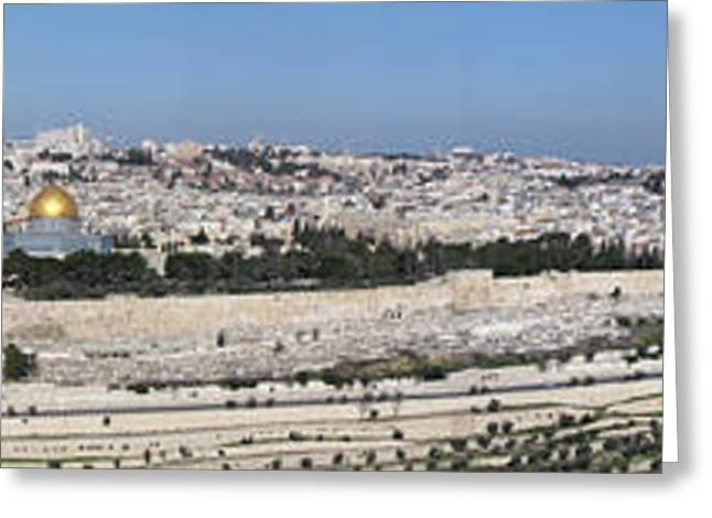 Best Sellers -  - From The Dome Greeting Cards - Jerusalem Old City 2011 Greeting Card by Robert Webb