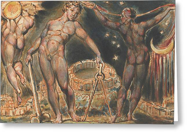 Jerusalem, Plate 100  Greeting Card by William Blake