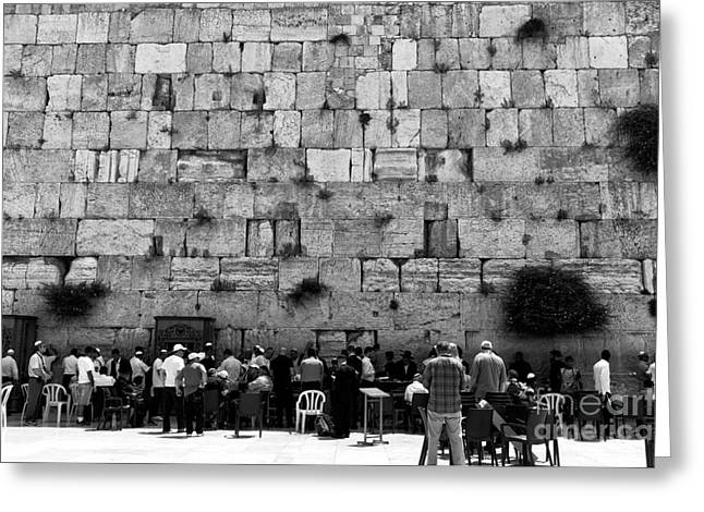 Contemporary Western Fine Art Greeting Cards - Jerusalem Prayers Greeting Card by John Rizzuto