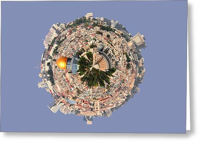 Jerusalem-small Planet Greeting Card by Galina Gutarin