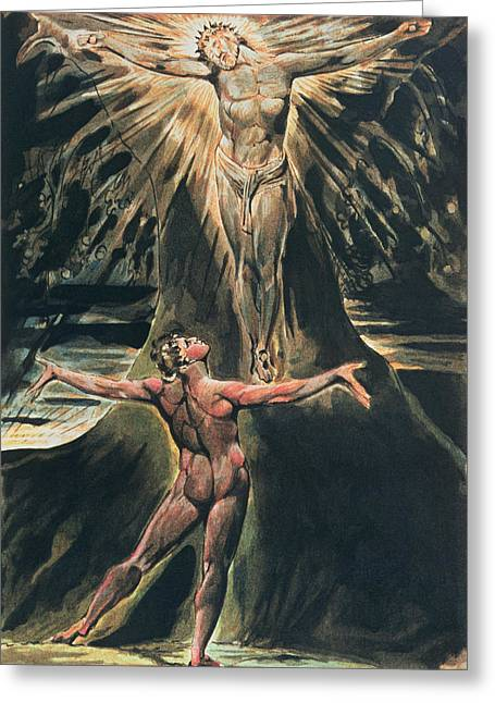 Etching Greeting Cards - Jerusalem The Emanation of the Giant Albion Greeting Card by William Blake