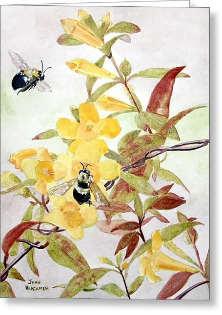 Jessamine Greeting Cards - Jessamine Bee Mine Greeting Card by Jean Blackmer