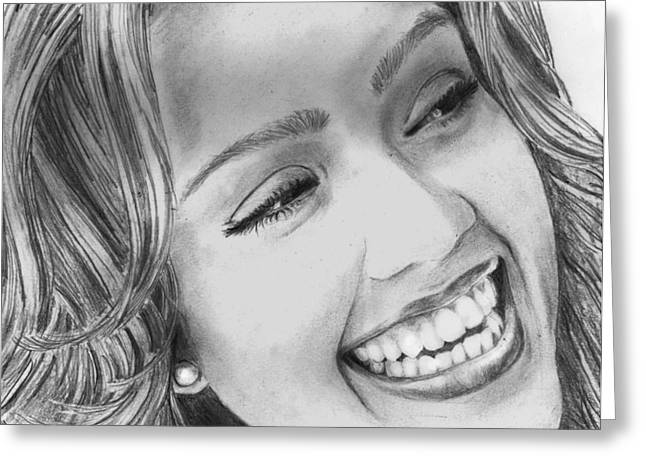 Jessica Alba Greeting Card by Shafina Noor