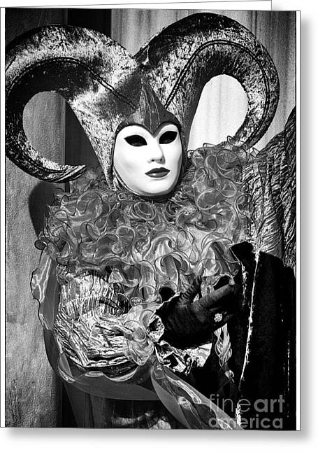 Jester Greeting Cards - Jester Eyes Greeting Card by John Rizzuto