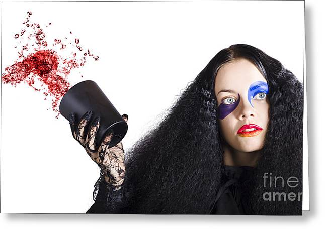 Jester Throwing Away Wine Greeting Card by Jorgo Photography - Wall Art Gallery